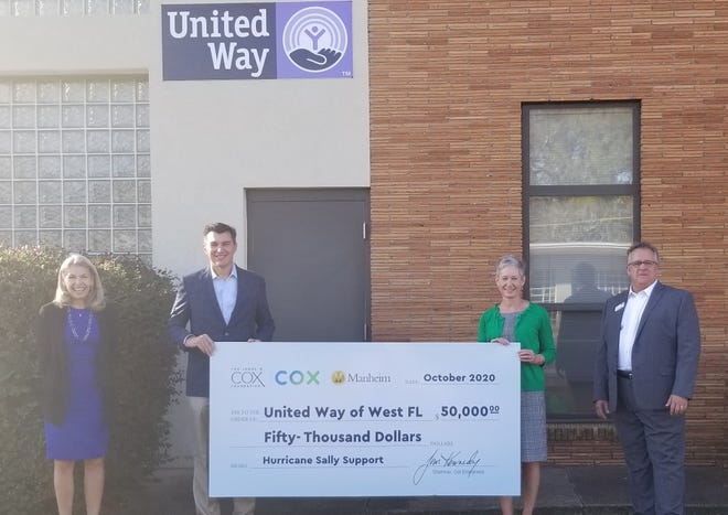 Cox donates $100,000 to Manna Food Pantry and the United Way.