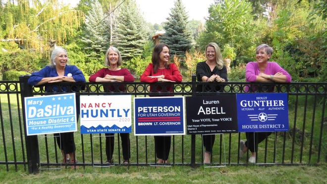 Five women all running for office in 2020 to represent Utah's Cache Valley for the Democratic party joined forces to bring publicity to their campaigns.