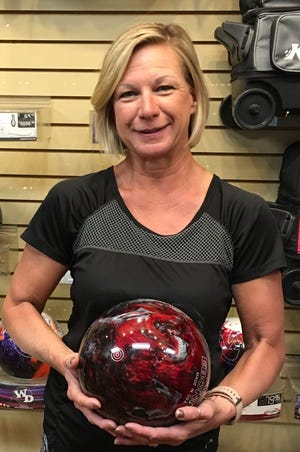 Sandy Sheppard bowled the highest series rolled by a woman this season at the Virgin River Bowling Center.
