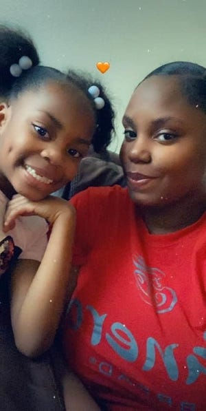 Taniy'jah Walker and her mother, Shaunice Brown