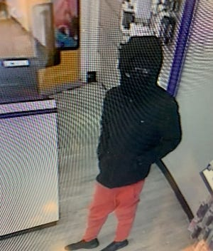 Police released this photo from a robbery on Monday.
