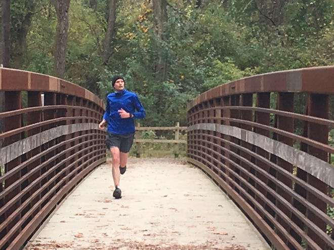 "A 20-mile training run by Fraser Marlow this past Sunday culminates on Pennypack Park Bridge in ""Little City'' adjacent to the Rhawn Street entrance."