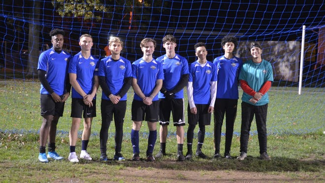 Burlington City's senior class was honored last night prior to the U-19 EDP Edgewater Park Blue Devils' meeting with Life Center Academy.