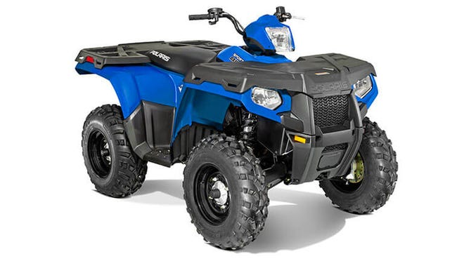 A blue Polaris 800.