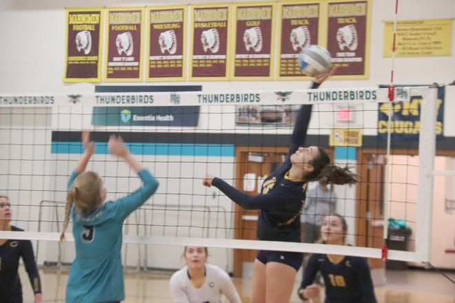 Libby Salentine in a game against Mahnomen-Waubun on Nov. 2. The Pirates will play the Thunderbirds again on Nov. 9 in a recently-added game.