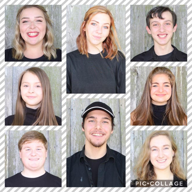 Lexington Youth Theatre will offer its first online performance on Saturday, Nov. 7. The acting group for youths has had to shift to virtual performances during the COVID-19 pandemic. Pictured are Skylar Hutchins (left row, from top), Cara Hayes and Carson Shoaf; (middle row, from top) Kayla Miller and Samuel Stowe; (right row, from top) Brayden Daugherty, Kinsey Calderone and Emma Peters.