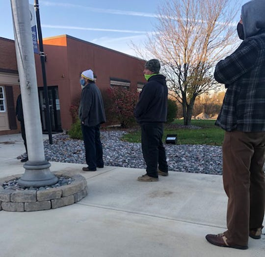 Lawrence County voters began forming a line early Tuesday morning at the Shenango Township Municipal Building.