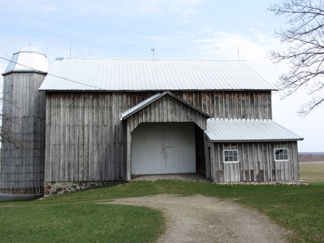A Venango Township farm, including this barn, owned by George May and his wife, Linda, has been placed on the National Register of Historic Places by the National Park Service.