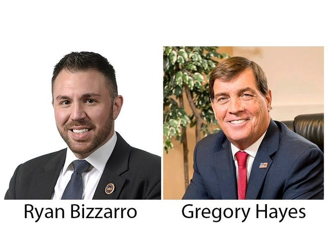 Democratic incumbent state Rep. Ryan Bizzarro, of Millcreek, D-3rd Dist., at left, ran against Republican challenger Gregory Hayes in Tuesday's General Election.