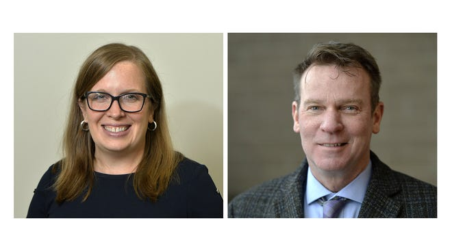 In the 2020 election, Julie Slomski, at left is the Democratic challenger to incumbent state Sen. Dan Laughlin, of Millcreek Township, R-49th Dist.