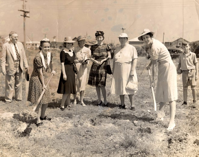 """Breaking Ground: Beyond Bathing Beauties"" is a new exhibit at the Beaches Museum that explores the many dynamic roles of local women as proprietors, laundresses, civic leaders and more. Pictured are a group of Beaches women as they lead the groundbreaking ceremony for the First Baptist Church, September 1940."