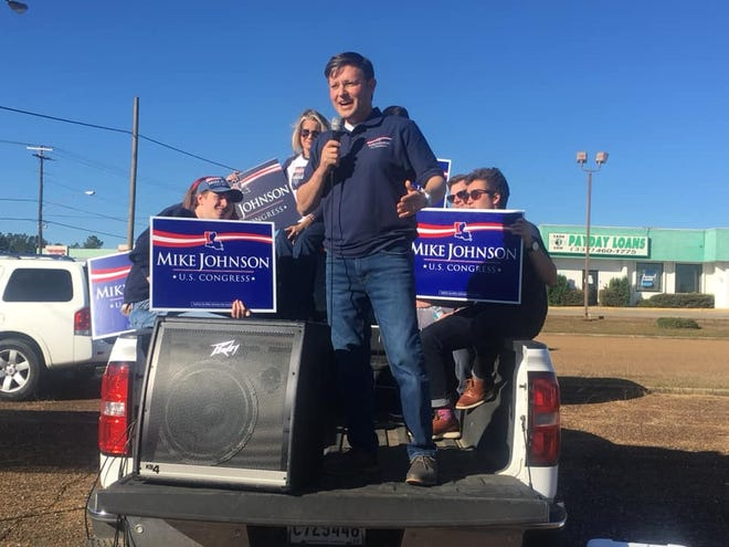 Congressman Mike Johnson visited DeRidder on Monday.