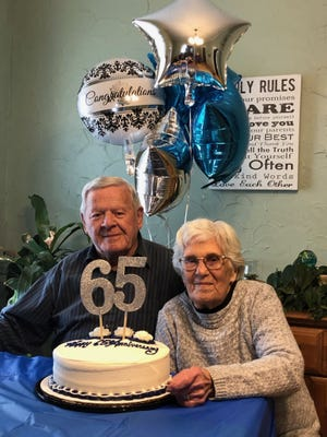 Laurie and Jeannette Legere recently celebrated their 65th wedding anniversary.