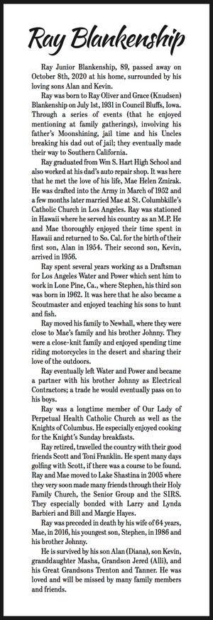 Obituary: Ray Blankenship