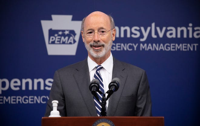 Pennsylvania Governor Tom Wolf speaking to the press on Oct. 19, 2020. On Tuesday, Nov. 3, the Department of Health noted the largest daily increase of COVID-19 cases yet in the commonwealth, numbering 2,875. As a fall resurgence of COVID-19 becomes more evident in Pennsylvania and across the country, Wolf and Sec. of Health Dr. Rachel Levine have presented weekly updates on the COVID-19 Early Warning Monitoring System Dashboard and case data, and asked Pennsylvanians to unite against COVID. Photo provided by the Office of Governor Tom Wolf from Wolf's Flickr page.