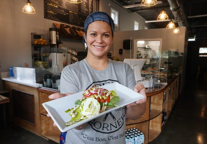 Natacha Legein, owner of Crepe Corner, is recovering from being hit by a car. The opening of her second Crepe Corner is on hold.