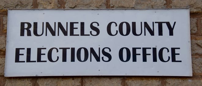 Runnels County Elections Office