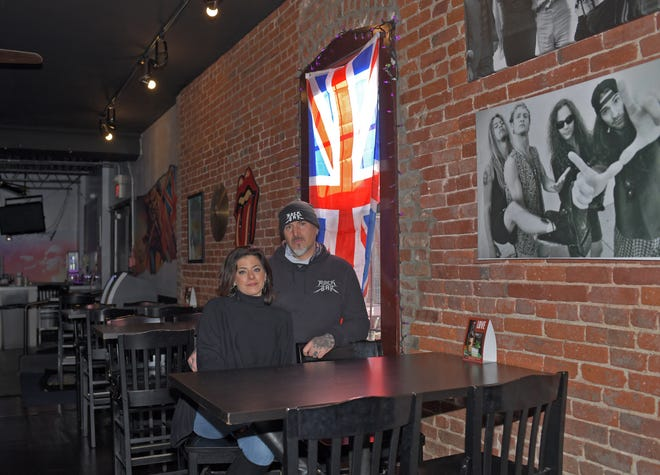 WORCESTER - Owners Nicole and George Yantsides at the Rock Bar in Worcester on Tuesday