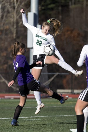 Brynn Murphy (22) is one of the senior captains for the Nipmuc Regional girls' soccer team this season.