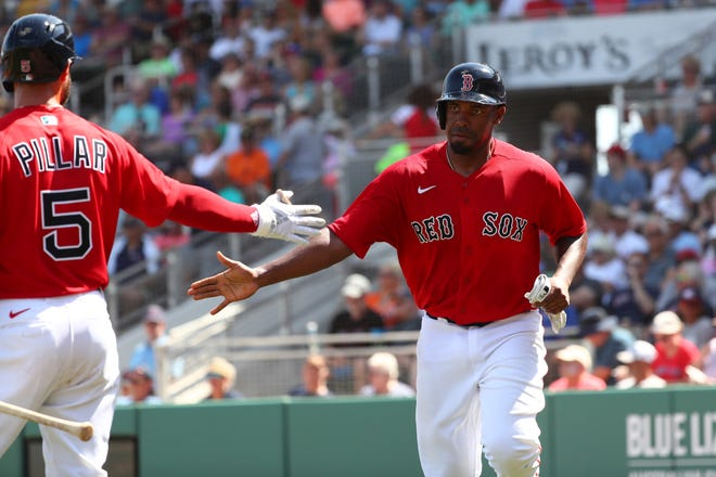 Boston first baseman Josh Ockimey was one of nine minor league free agents signed by the Red Sox on Monday.