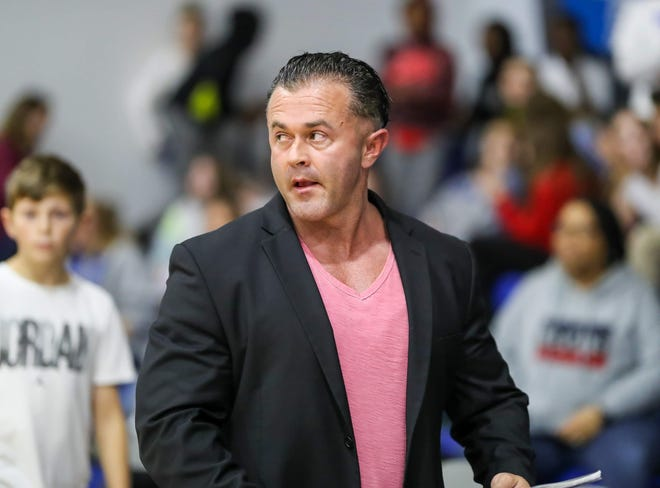 Village Christian Academy has hired Dustin Squibb, a former coach at Douglas Byrd High School, to take over its boys' basketball program.