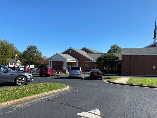 Lines were short to non-existent at Asheboro's Central United Methodist Church polling location on Tuesday morning.
