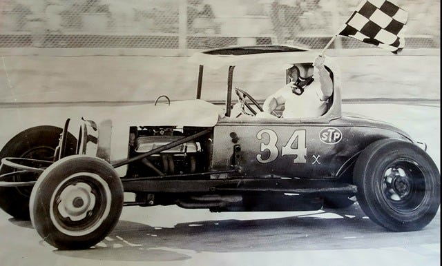 Walt Pickard, driving his legendary #34 red coupe, has passed away following a successful motorsports career. [Courtesy photo/Colorado Motorsports Hall of Fame