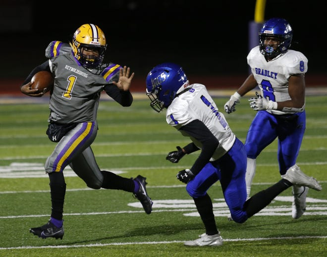 Reynoldsburg junior quarterback Dijon Jennings completed 80 of 150 passes for 1,394 yards with 18 touchdowns and eight interceptions this season. He also rushed for 220 yards and two scores.