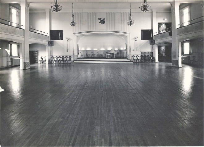 The ballroom at the Moose in 1947.