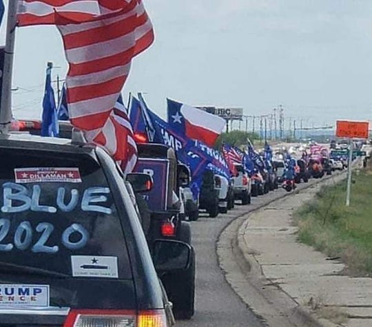 Trump Train Vehicle Parade Cape Coral drove a round trip of 28 miles with one incident involving a Trump supporter and a truck decorated with anti-Trump, pro-Biden vehicle wrap on Sunday, Nov. 1, 2020.
