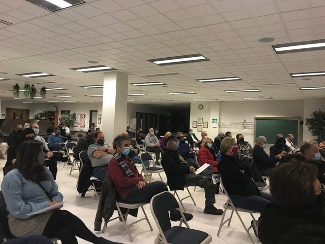 Franklin residents spilled into the community room from the full council chambers Nov. 2 while city officials reconsidered and eventually approved Strauss Brands' planned expansion in the city.