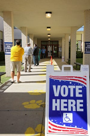 Voters head to the polls in Ouachita Parish on November 3, 2020 for the 2020 presidential election.