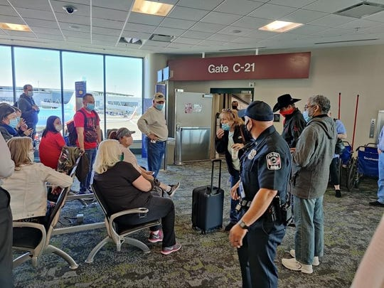 The consequences at Nashville International Airport on November 3, 2020 after a woman in this photo was told by authorities to refuse to wear a mask on a plane by Southwest Airlines, forcing the plane to return to the gate All of its passengers must land.
