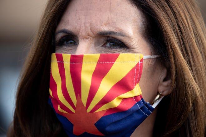 Senator Martha McSally, November 3, 2020, at the Mesa Convention Center polling place, 263 N. Center Street, Mesa, Arizona.