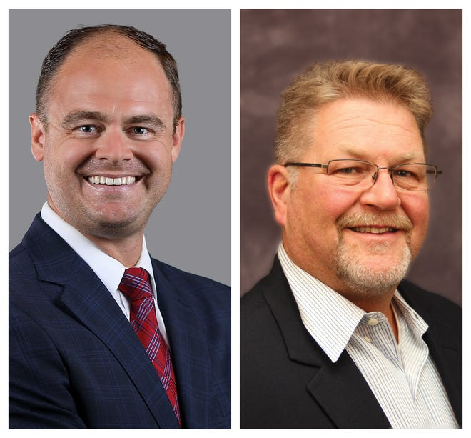 Republicans John Russell (left) and Rusty MacLachlan (right) each won their races for the Greene County Commission.