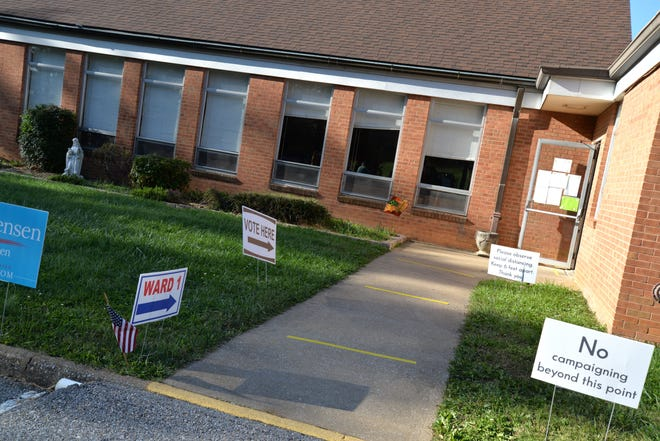 Staunton Ward 1, which is located at Third Presbyterian Church off Barterbrook Road on Election Day, Nov. 3, 2020.