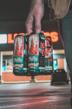 Iron Hill Brewery is offering its beers in cans in retail outlets for the first time. They arrived on shelves in Pennsylvania on Monday.