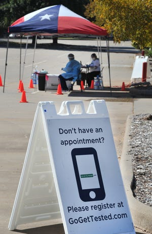 A new COVID-19 testing site was setup Tuesday morning in the parking lot of the Multi-purpose Event Center near downtown Wichita Falls.
