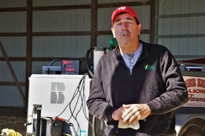 Doug Rebout talks about the history of his farm and how automation helps him do the work.