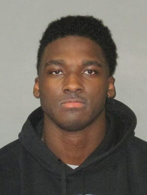 Former LSU wide receiver Drake Davis' booking photo from the East Baton Rouge Sheriff's Office.