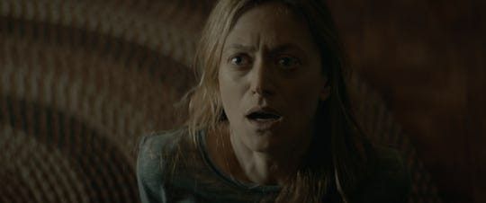 "Marin Ireland stars as a woman whose family farm is beset by an infectious evil in the horror film ""The Dark and the Wicked."""