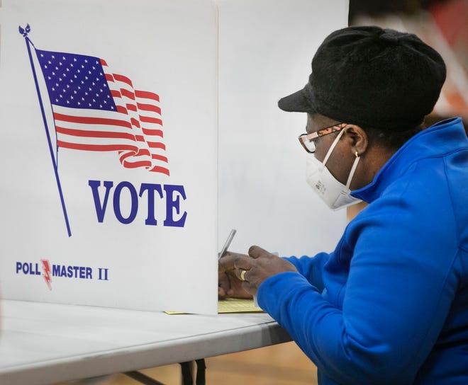 Voting on Nov. 3, 2020, in Cincinnati, Ohio.