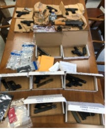 Akron police seized a dozen guns during a weekend of traffic stops in early November as gun-related crimes ticked up again this year.