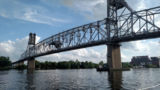 The Burlington-Bristol Bridge that joins Bucks County, Pa. with Burlington, New Jersey over the Delaware River. On Sunday, Feb 28, a Levittown woman, 67, leapt from mid-span, the second of two bridge jumpers that day.