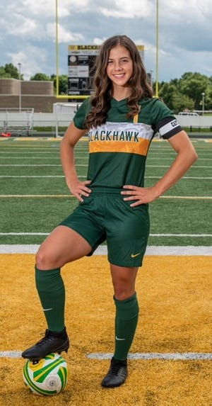 Blackhawk senior Morgan Wissner has been a three-sport athlete for the Cougars, including a four-year contributor to the soccer team.