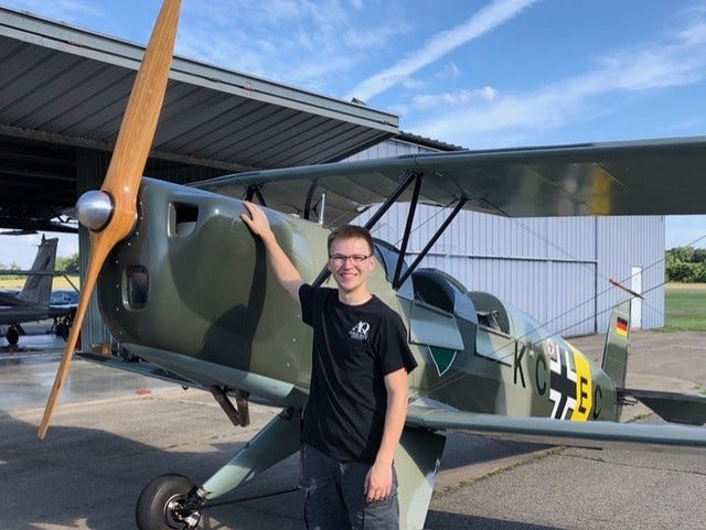 Braden Brunson, 18, of Chippewa Township is a part-time line maintenance technician at the Beaver County Airport and a first-semester student at Pittsburgh Institute of Aeronautics in West Mifflin. Brunson received a 2020 Work Ethic Scholarship from the Mike Rowe WORKS Foundation, one of 223 nationwide applicants in 48 states.