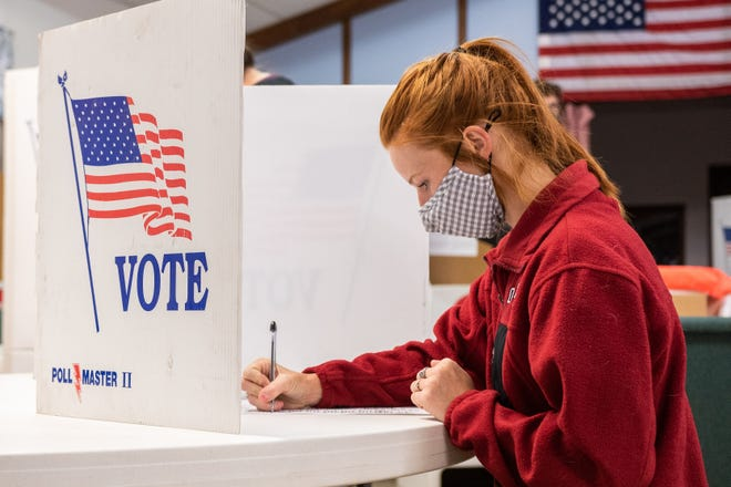 """Jessi Marker, 23, voted for the first time in Tuesday's presidential election. Marker said she was particularly interested in voting on State Question 805 because of a """"personal connection."""""""