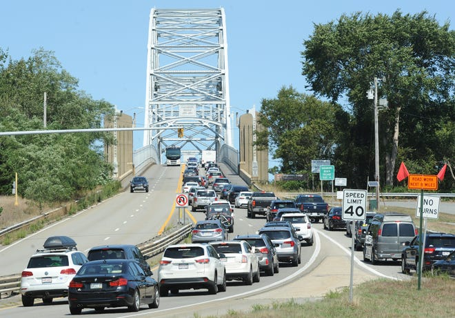 Traffic on the Sagamore Bridge will be reduced to two lanes Thursday night into early Friday as the span undergoes maintenance.