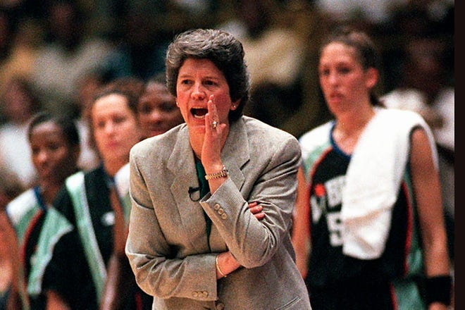 Former Ohio State women's basketball coach Nancy Darsch coached in and won the first WNBA game as the New York Liberty defeated the Los Angeles Sparks 67-57 on June 21, 1997.