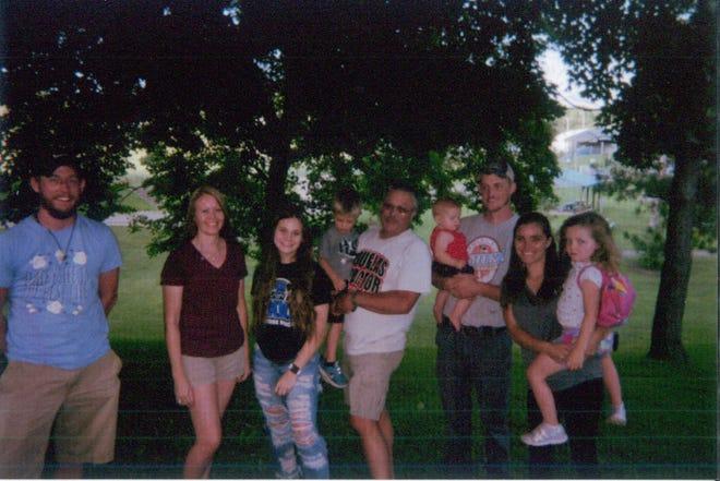 Pictured, l to r, Austin Douglas, Heather Murrey, Joslyn Murrey, James, Jay, Evlyn, Keath, Jordan, and Violet Douglas.